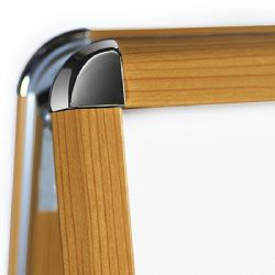 Wood Effect Aluminium Snap Frame A-board in 2 different colours